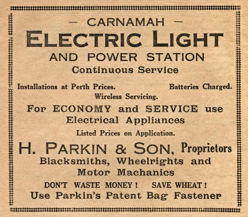 Advertisement for Carnamah Power Station
