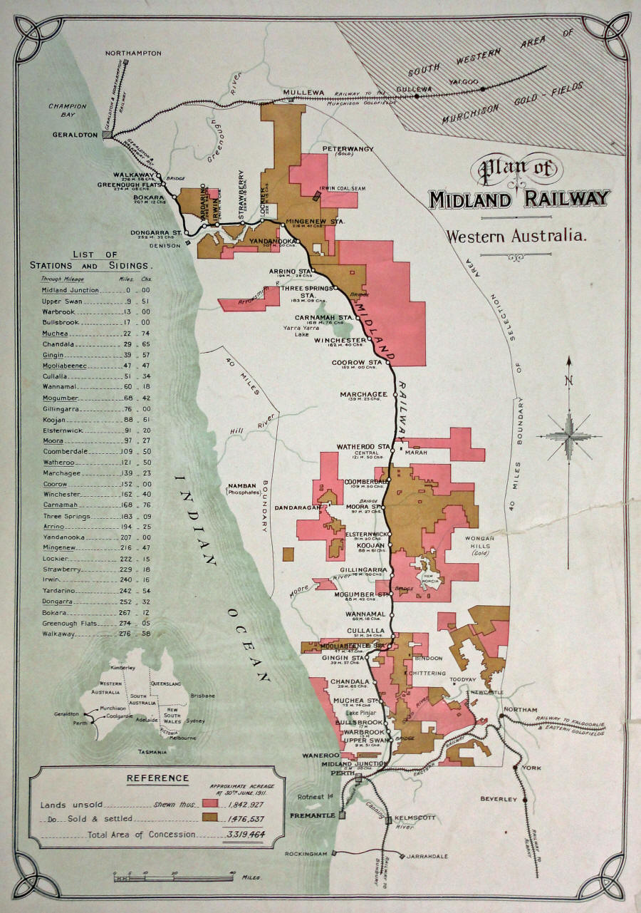 Plan of the Midland Railway in Western Australia
