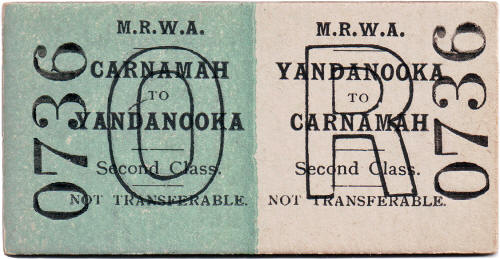 MRWA Railway Ticket