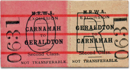 MRWA ticket Carnamah to Geraldton