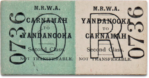 MRWA ticket Carnamah to Yandanooka