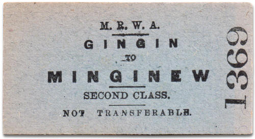 MRWA ticket Gingin to Mingenew