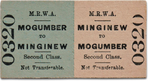 MRWA ticket Mogumber to Mingenew