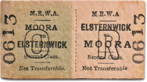 MRWA ticket Moora to Elsternwick