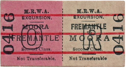 MRWA ticket Moora to Fremantle
