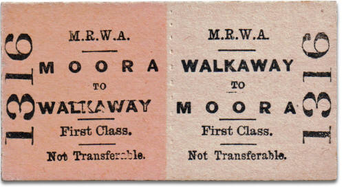 MRWA ticket Moora to Walkaway