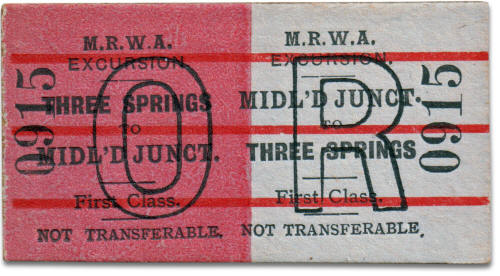 MRWA ticket Three Springs to Midland Junction