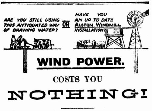 Malloch Bros windmill advertisement