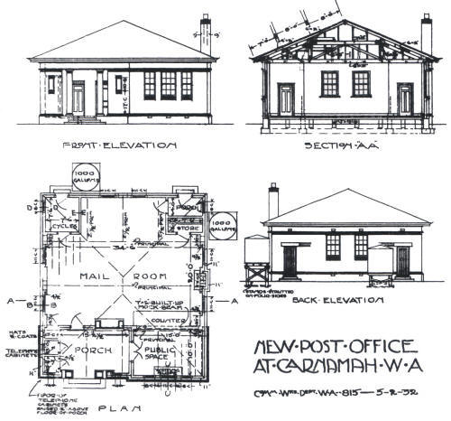 Plans for the New Post Office at Carnamah