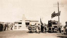 Anzac Day at the Carnamah War Memorial in the 1930s