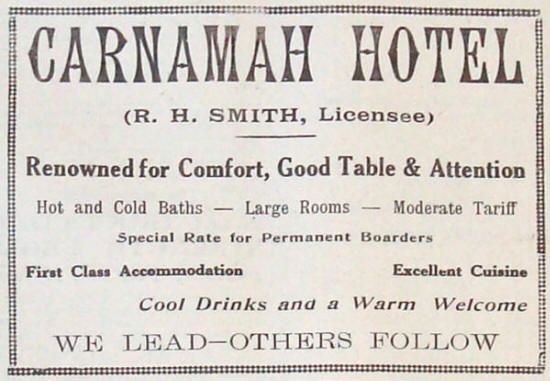 1942 Advertisement for the Carnamah Hotel