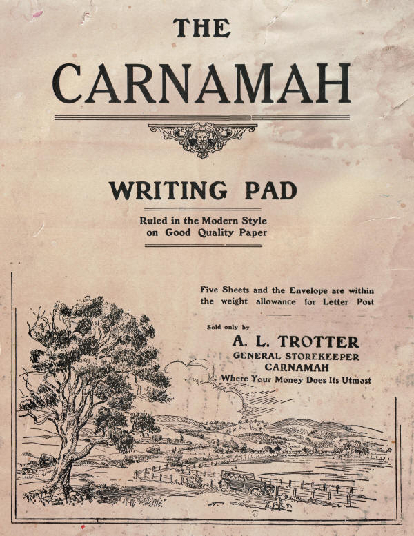 The Carnamah Writing Pad sold by A. L. Trotter