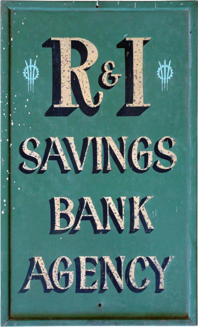 Agency Sign for the R & I Bank