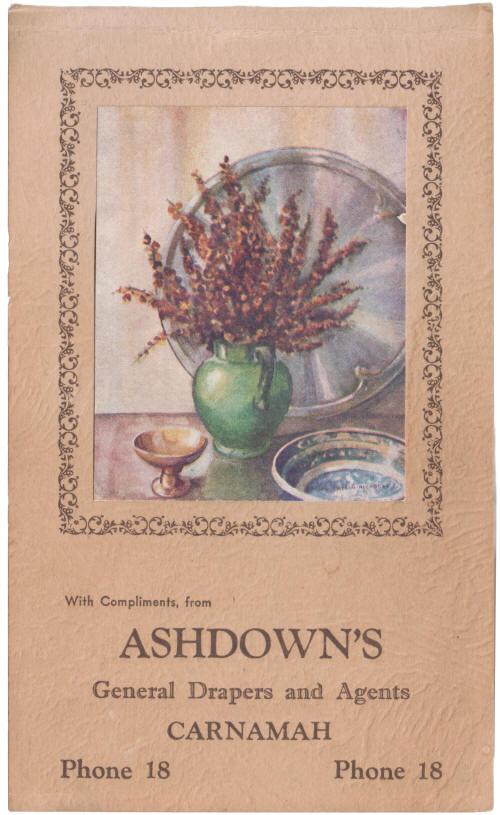 Notepad from Ashdown's Store in Carnamah