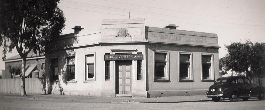 Rural and Industries Bank in Carnamah in 1947