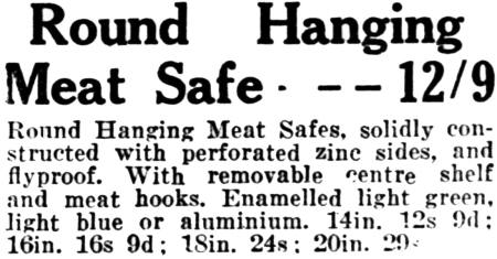 1930s Round Hanging Meat Safe
