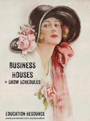 Business Houses + Show Schedules education resource