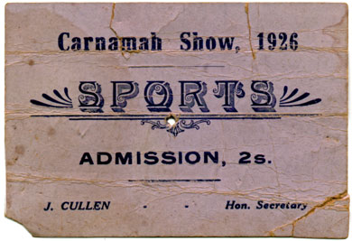 Carnamah Show Ticket