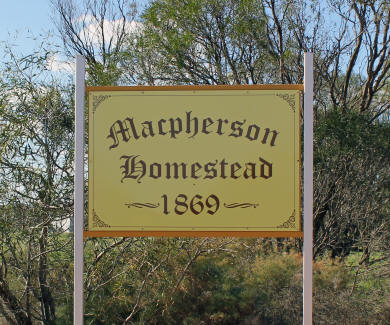 Sign at the Macpherson Homestead in Carnamah