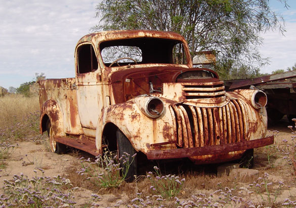 Rusting Vehicle at the Macpherson Homestead in Carnamah
