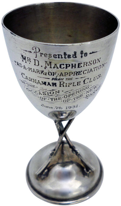 Cup Presented to Donald Macpherson