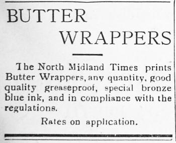Advert for Butter Papers