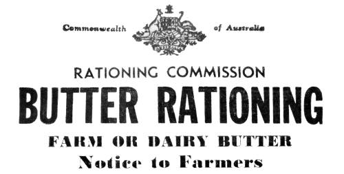 Butter Rationing