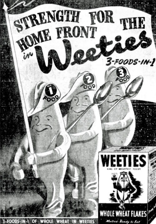 Weeties cereal advertisement