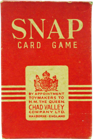 1940s Snap Card Game Box