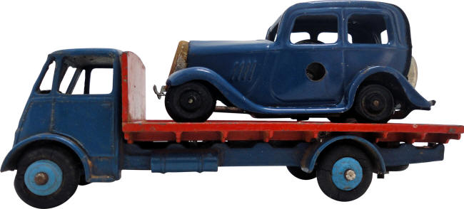 Truck and Wind-Up Car