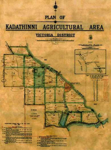 Plan of the Kadathinni Agricultural Area