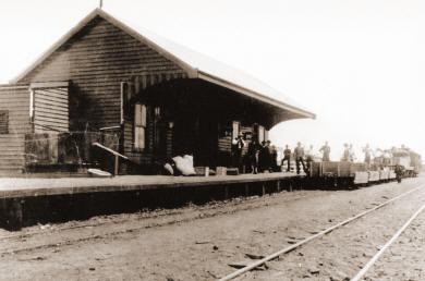 Three Springs Railway Station in 1917