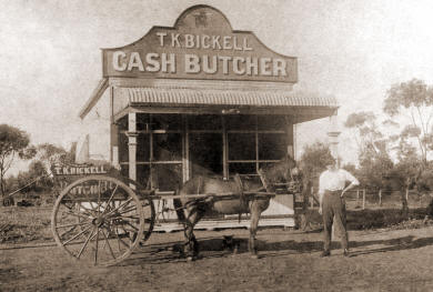 Butcher's Shop in Slaughter Street in 1917