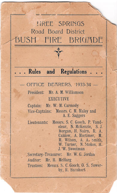 Three Springs Bush Fire Brigade