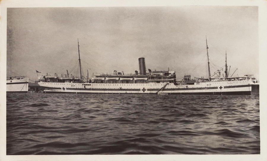 The First World War hospital ship Dongola